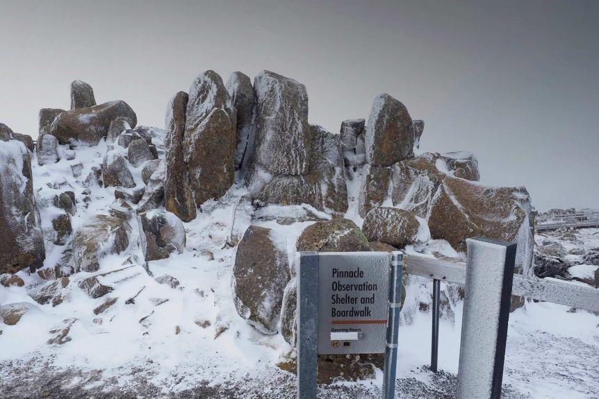 Snow on Mount Wellington