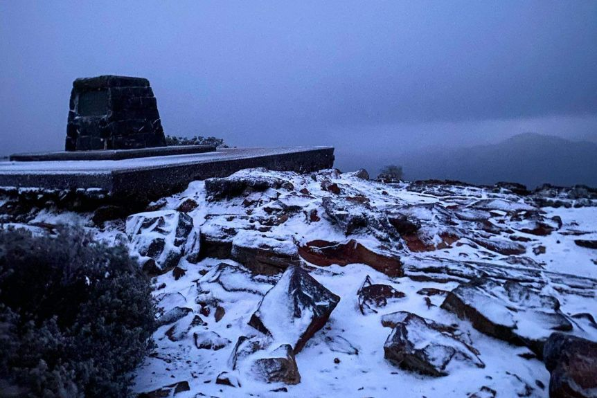 Snow on Mount William (VIC) in Grampians National Park